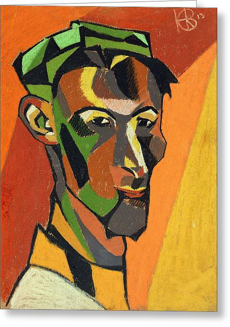 Self Portrait, 1913 Greeting Card by Henri Gaudier-Brzeska