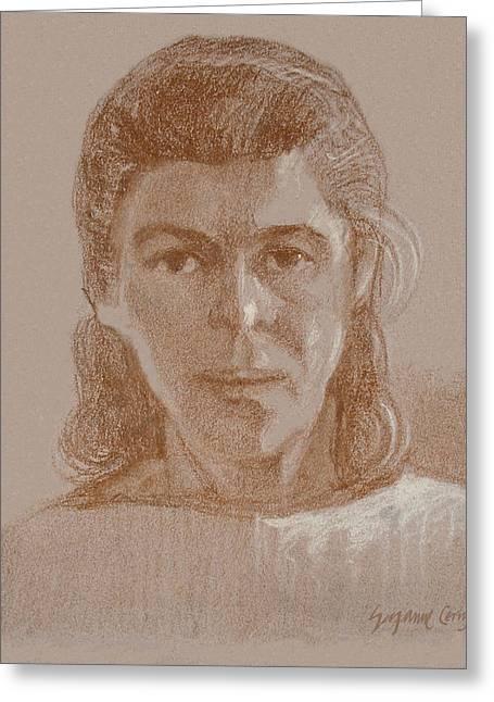 Self Portrait 1990 Greeting Card