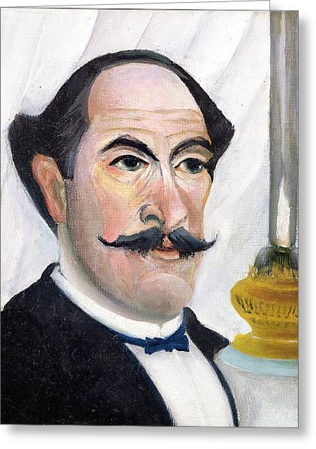 Self Portrait Greeting Card by Henri J F Rousseau