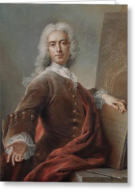 Self-portrait Charles-antoine Coypel, French Greeting Card