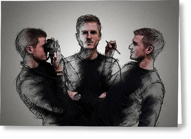 Self Portrait Greeting Card