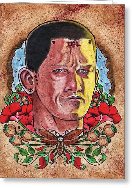 Self Portrait Greeting Card by David Shumate