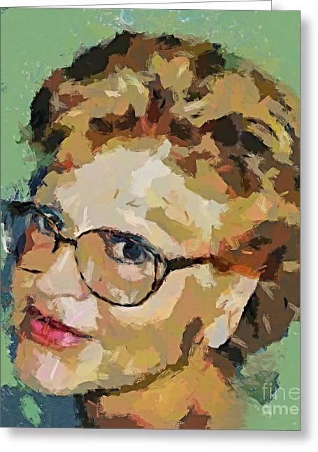 Self-portrait Greeting Card by Dragica  Micki Fortuna