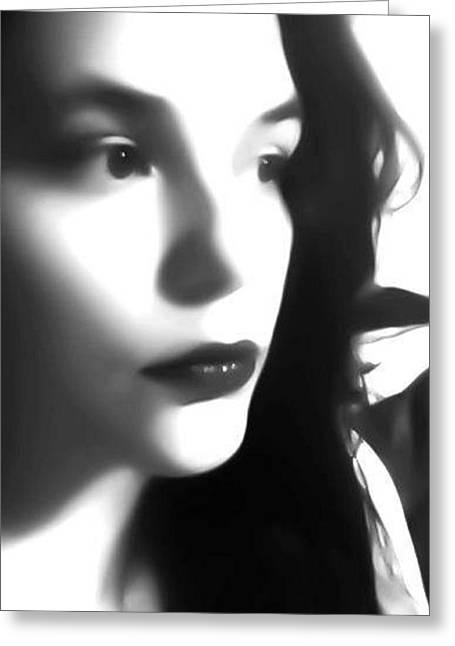 Self-portrait For Nancy Greeting Card by Toni Martsoukos