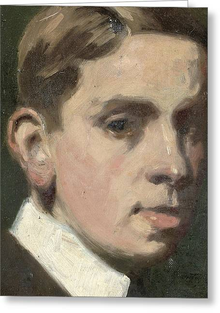 Self Portrait Greeting Card by Francis Campbell Boileau Cadell