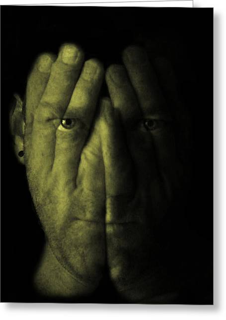 Self Portrait Greeting Card by Gary Neal