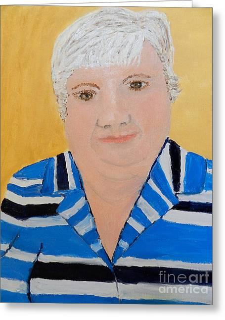 Self Portrait Greeting Card by Pamela  Meredith