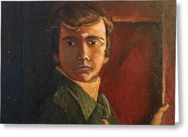 Self Portrait Untitled Greeting Card by Michael French