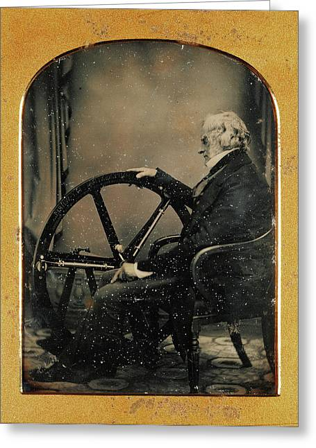 Self-portrait With A Recent Invention William Constable Greeting Card by Litz Collection