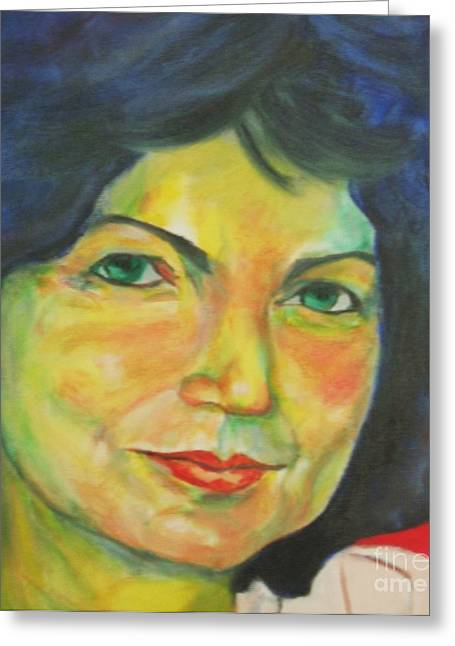 Selfportrait Greeting Card by Dagmar Helbig