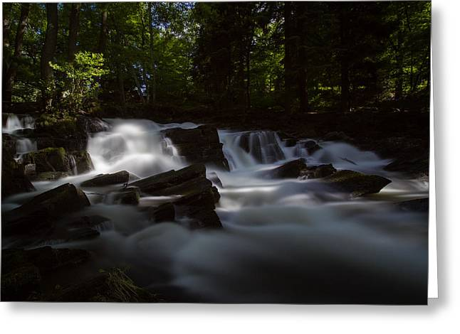 Greeting Card featuring the photograph Selkefall, Harz by Andreas Levi