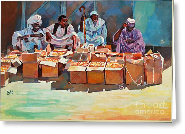 Sellers Greeting Card by Mohamed Fadul