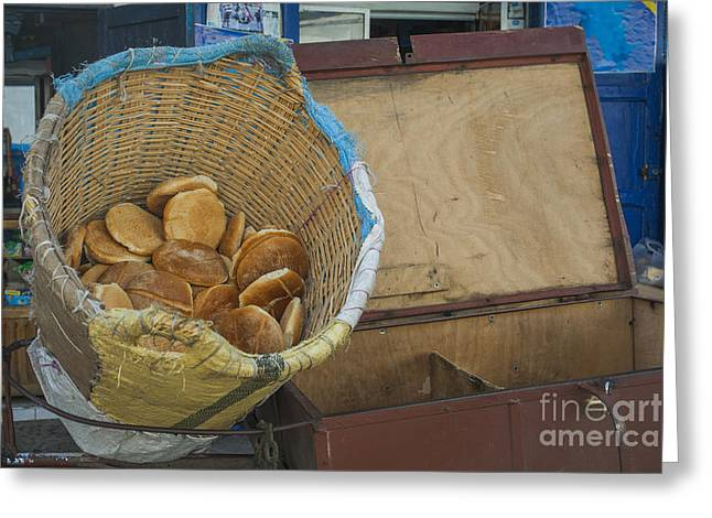 Selling Pita Bread Greeting Card by Patricia Hofmeester