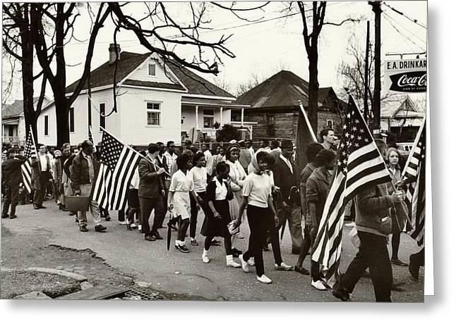 Selma To Montgomery Greeting Card