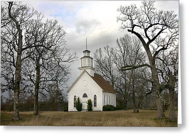 Selma United Methodist Church In Winter Greeting Card