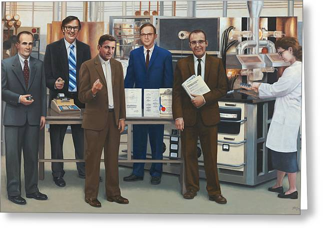 Semiconductor Pioneers Of Silicon Valley Greeting Card by Terry Guyer