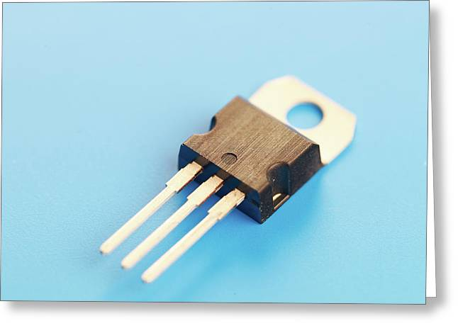 Semiconductor Transistor Greeting Card by Wladimir Bulgar