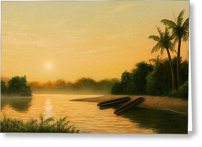 Seminole Sunset Greeting Card