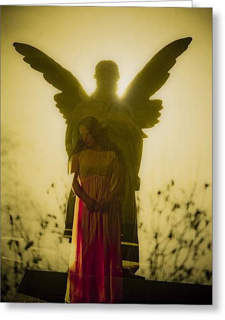Send Me An Angel Greeting Card by Scott Meyer