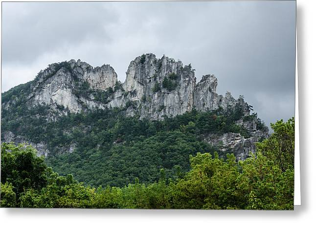 Seneca Rock Greeting Card by Diana Boyd