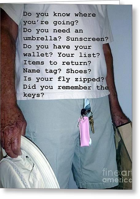 Senior Check List  Greeting Card by Barbie Corbett-Newmin