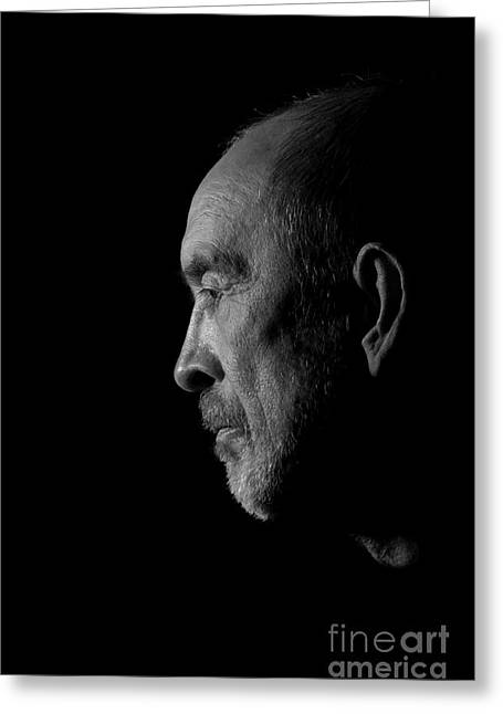 Senior In Depression Greeting Card by Aleksey Tugolukov