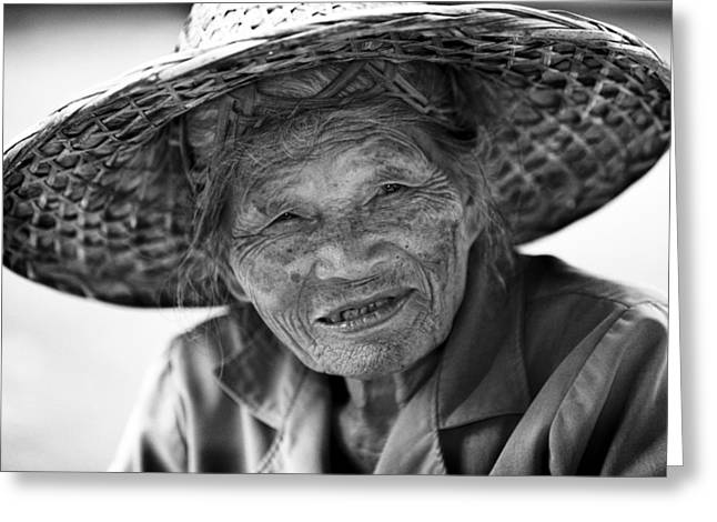 Senior Vendor Thai Woman Greeting Card