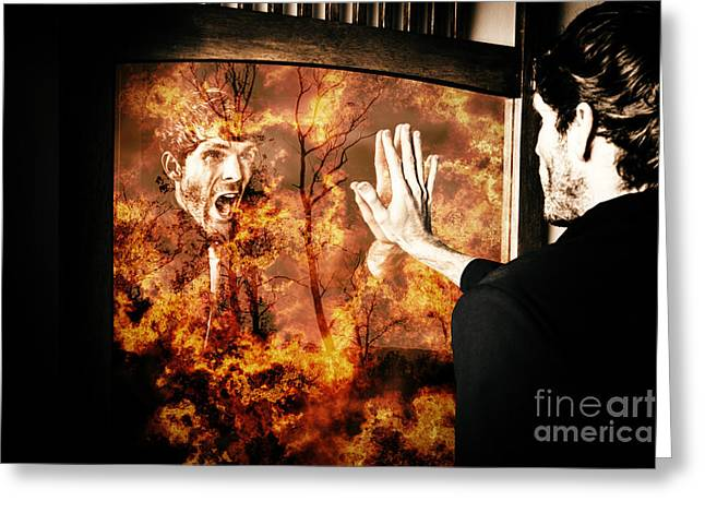Senses Fail The Lost Touch Of Humanity Greeting Card