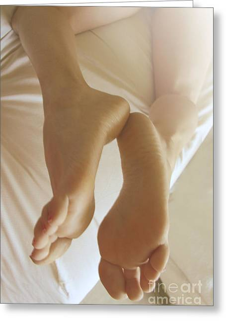 Sensual Feet Greeting Card by Tos