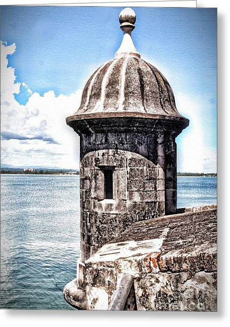 Sentry Box In El Morro Hdr Greeting Card