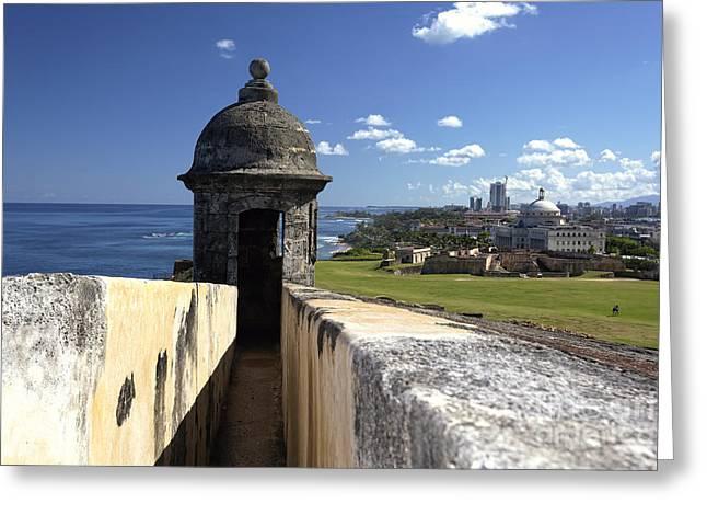 Sentry Post Overlooking San Juan Greeting Card