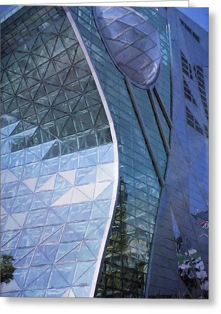 Seoul City Hall Greeting Card by Joan Carroll