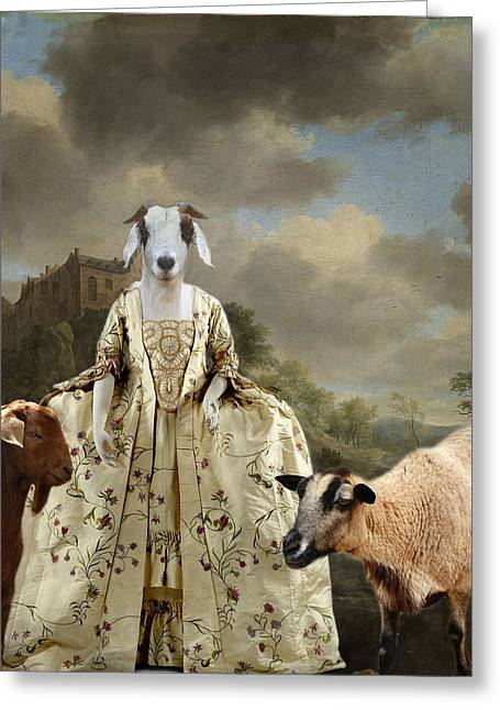 Separating The Sheep From The Goats Greeting Card by Terry Fleckney