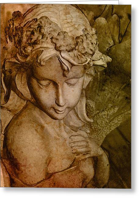 Sepia Angel Greeting Card