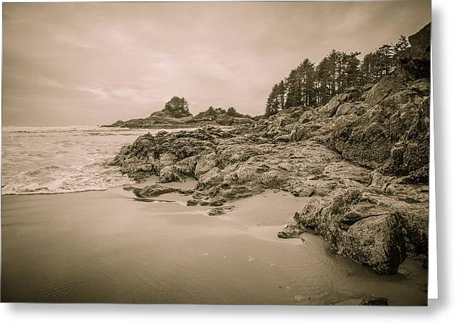 Cox Bay Sepia Greeting Card
