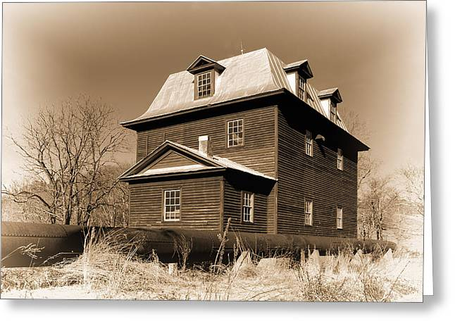 Sepia Big Otter Mill - Va. Greeting Card