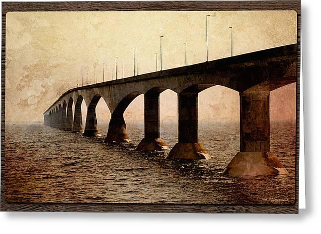 Sepia Bridge Greeting Card