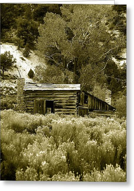 Sepia Country Cabin Greeting Card