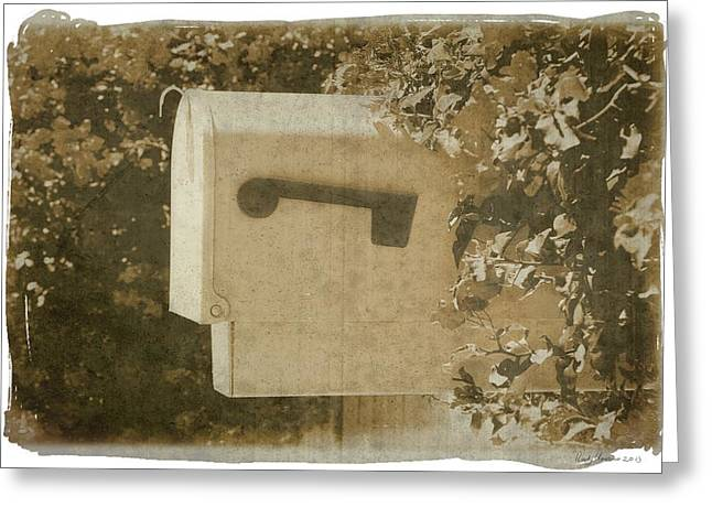 Sepia Mailbox Greeting Card by Rudy Umans