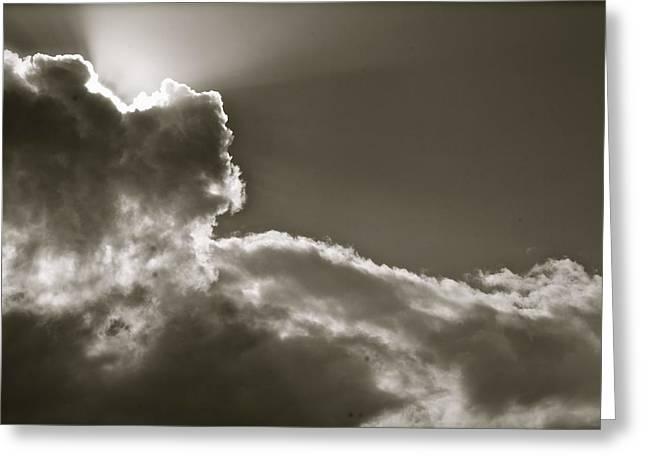 Greeting Card featuring the photograph Sepia Sun Ray by Lennie Green