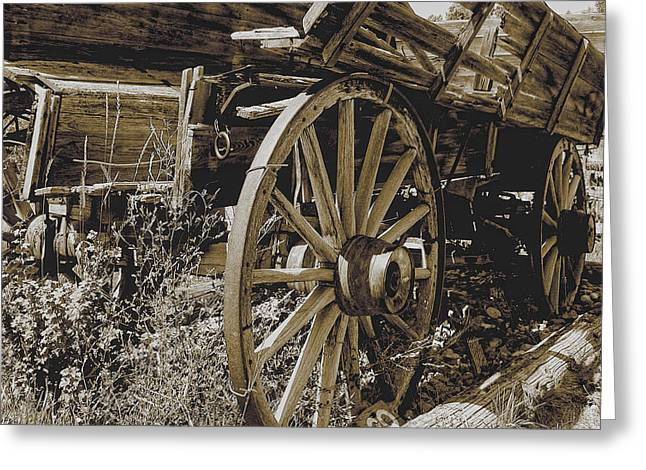 Sepia Wagon Greeting Card
