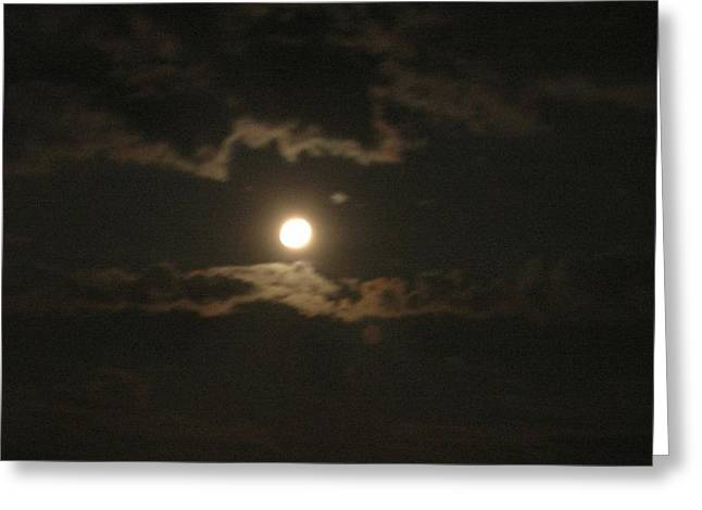 Greeting Card featuring the photograph September Moonlight by Emmy Marie Vickers