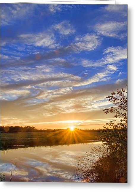September Sky Reflection Greeting Card