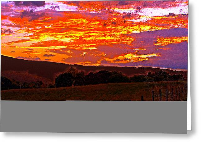 September Smokies Sunrise Greeting Card