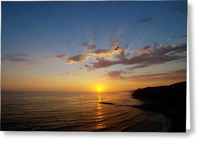 September Sunday Sunset  Greeting Card by Joe Schofield