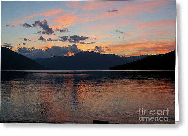 September Sunset Greeting Card by Leone Lund