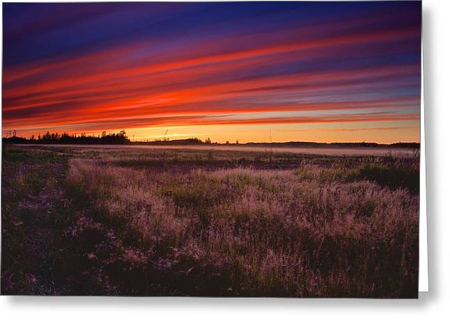 Greeting Card featuring the photograph September Sunset North Pole Alaska by Michael Rogers