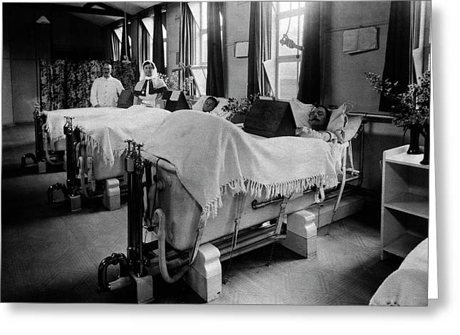 Septic Wounds Hospital Ward Greeting Card