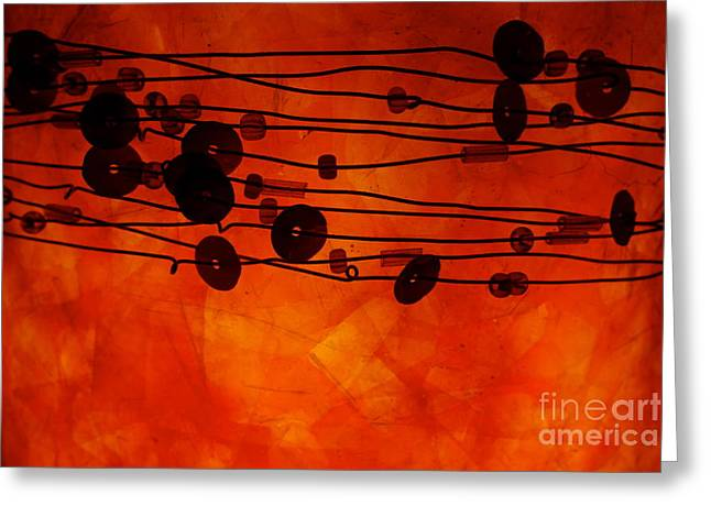 Greeting Card featuring the photograph Sequence And Wire by Jacqueline Athmann