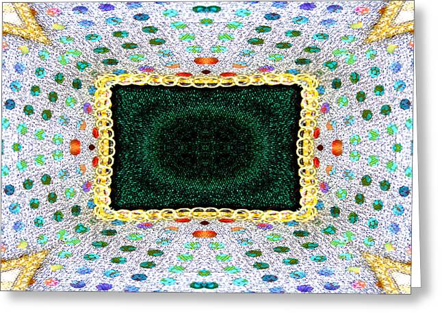 Sequins Greeting Card by Marie Jamieson